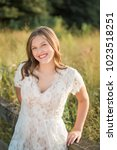 one caucasian high school...   Shutterstock . vector #1023518251