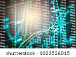 stock market or forex trading... | Shutterstock . vector #1023526015