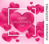 valentines day vector... | Shutterstock .eps vector #1023529861