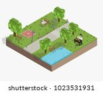 illustration set of pixelated... | Shutterstock . vector #1023531931