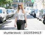 paris july 6  2016. street... | Shutterstock . vector #1023534415