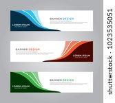 abstract modern banner...   Shutterstock .eps vector #1023535051