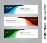 abstract modern banner... | Shutterstock .eps vector #1023535054
