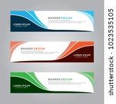 abstract modern banner... | Shutterstock .eps vector #1023535105