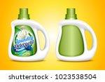 laundry detergent mockup  two... | Shutterstock .eps vector #1023538504