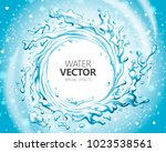 water special effect  vortex... | Shutterstock .eps vector #1023538561