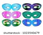 carnival mask  costume... | Shutterstock .eps vector #1023540679