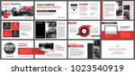 red presentation templates for... | Shutterstock .eps vector #1023540919
