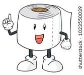 vector of tissue paper cartoon | Shutterstock .eps vector #1023550039