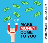 money come to you  attract... | Shutterstock .eps vector #1023551875