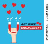 get more love engagement on... | Shutterstock .eps vector #1023551881