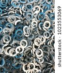 steel spring washer backgrounds   Shutterstock . vector #1023553069