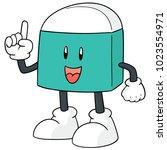 vector of eraser cartoon | Shutterstock .eps vector #1023554971