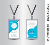 staff blue user id card...   Shutterstock .eps vector #1023561529