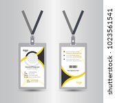 staff user id card realistic... | Shutterstock .eps vector #1023561541