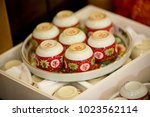 tea set used in a chinese... | Shutterstock . vector #1023562114