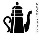 tall teapot icon. simple... | Shutterstock .eps vector #1023562555