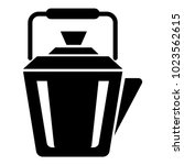 steel teapot icon. simple... | Shutterstock .eps vector #1023562615