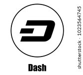 dash icon. simple illustration... | Shutterstock .eps vector #1023564745