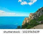 beautiful summer sea landscape...   Shutterstock . vector #1023565639