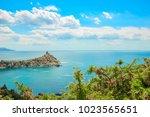 beautiful summer sea landscape...   Shutterstock . vector #1023565651