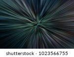 dark space with zoom blur... | Shutterstock . vector #1023566755