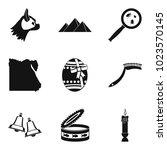 favorite icons set. simple set... | Shutterstock .eps vector #1023570145