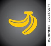 yellow banana icon on black... | Shutterstock .eps vector #1023572149