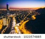 beautiful cityscape of santiago ... | Shutterstock . vector #1023574885