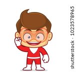 clipart picture of an excited...   Shutterstock .eps vector #1023578965
