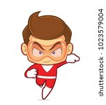 clipart picture of a superhero... | Shutterstock .eps vector #1023579004