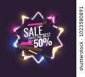 best sale banner. original... | Shutterstock .eps vector #1023580891