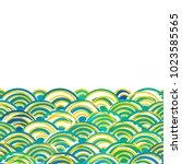 seigaiha or seigainami... | Shutterstock .eps vector #1023585565