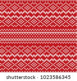 knit geometric ornament... | Shutterstock .eps vector #1023586345