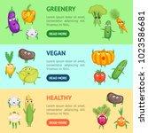 cartoon fresh healthy... | Shutterstock .eps vector #1023586681