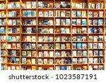 seoul  south korea   october 14 ... | Shutterstock . vector #1023587191