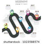 timeline infographic road map...   Shutterstock .eps vector #1023588574