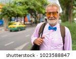 portrait of handsome senior...   Shutterstock . vector #1023588847