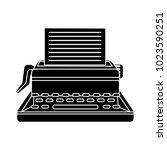 typewriter machine icon | Shutterstock .eps vector #1023590251