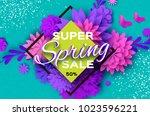 origami violet super spring... | Shutterstock .eps vector #1023596221