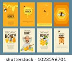 vector cards with illustrations ... | Shutterstock .eps vector #1023596701