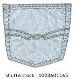 light blue jeans back pocket... | Shutterstock . vector #1023601165