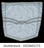 light blue jeans back pocket... | Shutterstock . vector #1023601171