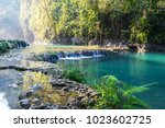 beautiful natural pools in... | Shutterstock . vector #1023602725