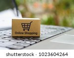 online shopping   ecommerce and ... | Shutterstock . vector #1023604264