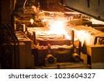 steel production in electric... | Shutterstock . vector #1023604327