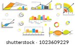 different infographic elemets | Shutterstock .eps vector #1023609229
