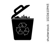 trash flat icon | Shutterstock .eps vector #1023610945