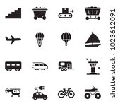 solid black vector icon set  ... | Shutterstock .eps vector #1023612091