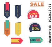 sale labels collection sticker... | Shutterstock .eps vector #1023615061